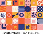 brutalism art inspired abstract ... | Shutterstock .eps vector #1641130543