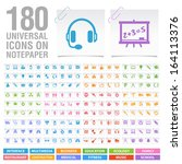 180 universal icons on...