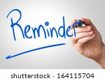reminder hand writing with a... | Shutterstock . vector #164115704