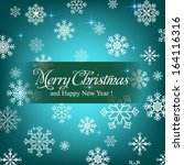 merry christmas and happy new... | Shutterstock .eps vector #164116316
