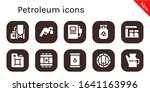 petroleum icon set. 10 filled... | Shutterstock .eps vector #1641163996