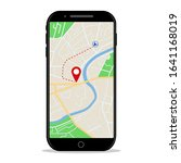 map gps navigation in mobile... | Shutterstock .eps vector #1641168019