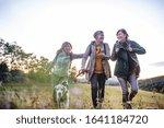 Senior Women Friends With Dog...