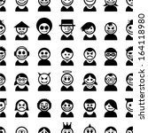 people icons. seamless pattern. | Shutterstock .eps vector #164118980