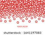 falling hearts red flat icons... | Shutterstock .eps vector #1641197083