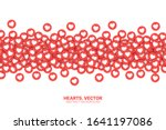 vector hearts red flat icons... | Shutterstock .eps vector #1641197086