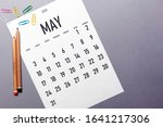 May 2020 Simple Calendar With...