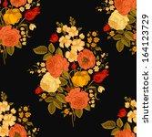 seamless vector vintage pattern ... | Shutterstock .eps vector #164123729