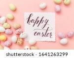 happy easter concept.... | Shutterstock . vector #1641263299