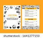poke bowl restaurant menu... | Shutterstock .eps vector #1641277153
