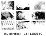 nine dirty distressed overlay... | Shutterstock .eps vector #1641280960