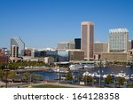 downtown baltimore  maryland... | Shutterstock . vector #164128358