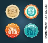 collection of colorful quality... | Shutterstock .eps vector #164132633