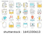 office tools related  color... | Shutterstock .eps vector #1641330613