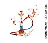 colorful vector hookah... | Shutterstock .eps vector #164135438