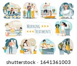 daily morning routine of man...   Shutterstock .eps vector #1641361003