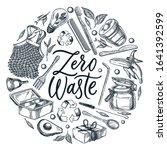 zero waste calligraphy... | Shutterstock .eps vector #1641392599