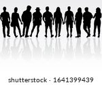 group of people. crowd of... | Shutterstock . vector #1641399439