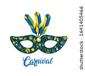 Mask Carnival With Feathers...