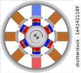 a stepper motor is a brushless  ...   Shutterstock .eps vector #1641421189