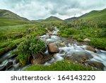 stream in blurred motion  tien...   Shutterstock . vector #164143220