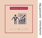 presentation sign icon. man...   Shutterstock .eps vector #1641439786