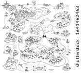 adventure island map. board... | Shutterstock .eps vector #1641462463
