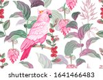 watercolor nature illustration. ... | Shutterstock . vector #1641466483