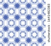 abstract geometric octagononal... | Shutterstock .eps vector #1641482383