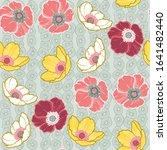 beautiful bohemian floral... | Shutterstock .eps vector #1641482440