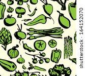 assorted vegetables freehand... | Shutterstock .eps vector #164152070