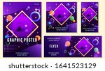 set posters. flyers of... | Shutterstock .eps vector #1641523129