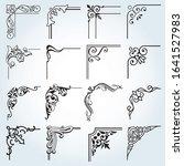 corners vintage frames design... | Shutterstock .eps vector #1641527983