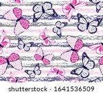 butterflies design on grunge...   Shutterstock .eps vector #1641536509