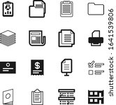 document vector icon set such... | Shutterstock .eps vector #1641539806
