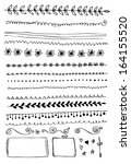 hand drawn vector line border... | Shutterstock .eps vector #164155520