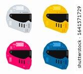 motorcycle helmet  pixel flat... | Shutterstock .eps vector #1641571729
