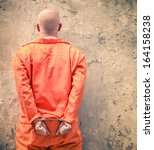 handcuffed prisoner waiting for ... | Shutterstock . vector #164158238