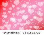 red valentine heart bokeh... | Shutterstock . vector #1641588739