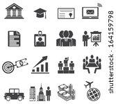 business career icons. vector... | Shutterstock .eps vector #164159798