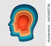a man's head.  a thinking mind...   Shutterstock .eps vector #1641600736