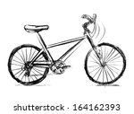 stock vector bicycle ... | Shutterstock .eps vector #164162393