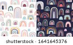 childish seamless patterns with ...   Shutterstock .eps vector #1641645376