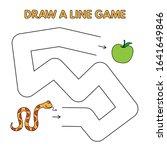cartoon snake game for small... | Shutterstock . vector #1641649846