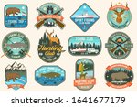 set of fishing and hunting club ... | Shutterstock .eps vector #1641677179