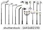 streetlight lamps.  ollection... | Shutterstock .eps vector #1641682150