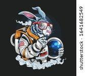 astronaut rabbit hipster... | Shutterstock .eps vector #1641682549