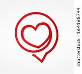 red heart  vector eps10... | Shutterstock .eps vector #164168744
