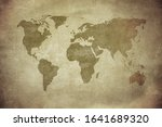 vintage map of the world | Shutterstock . vector #1641689320