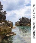 bermuda beach. tobacco bay area ... | Shutterstock . vector #164174078